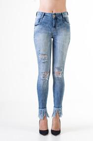 4dd9f0084 Cal A Jeans Cintura Alta Rasgada - Calçados, Roupas e Bolsas no Mercado  Livre Brasil