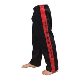Calça Taekwondo Tkd Treino - Brim - Adulto - Preta