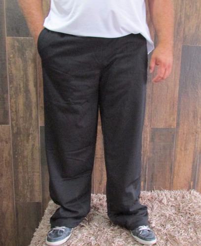 calça tamanhos grandes helanca peluciada moletom com bolsos