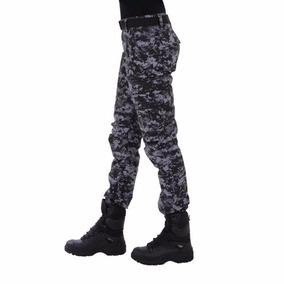 687b37e7e4 Calça Tática, Feminina, Exército, Camuflada Digital Petróleo