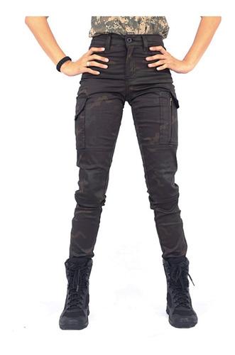 calça tática feminina fem-tac multicam black - bélica