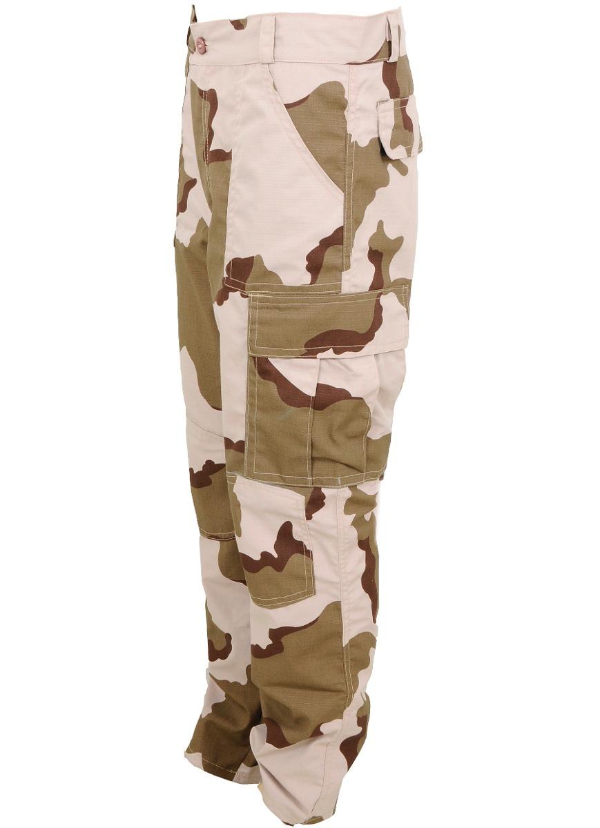 calça tática militar camuflado deserto três cores rip stop. Carregando zoom. ffd85844652