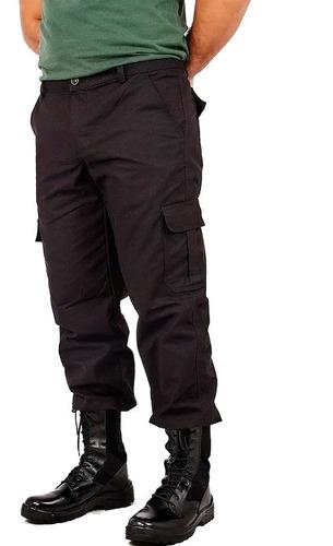 calça tático militar preto rip stop 6 bolsos segurança