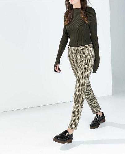 calça zara geometrica roupas femininas