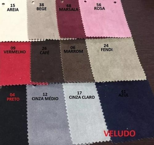 calçadeira queen size captone costurado luiz xv varias cores