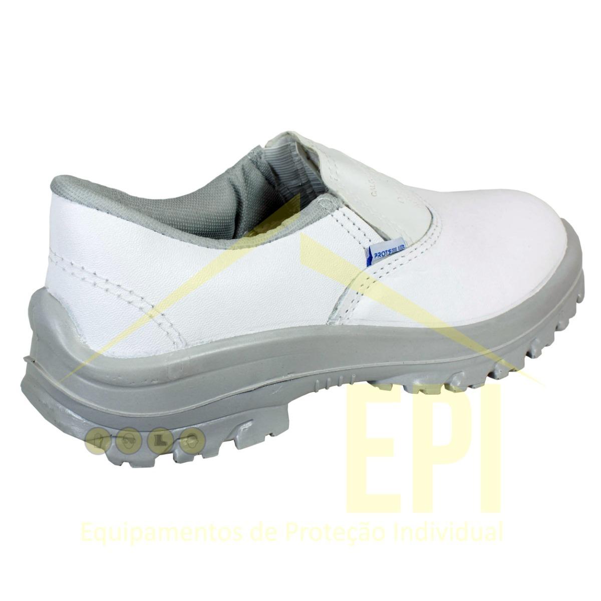 9b0522559a1ff Calçado De Segurança Branco De Proteção Epi Proteplus - R  69
