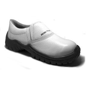 a4122263dc Botina Sapato Calçado De Segurança Branco Merendeira - Botas com o ...