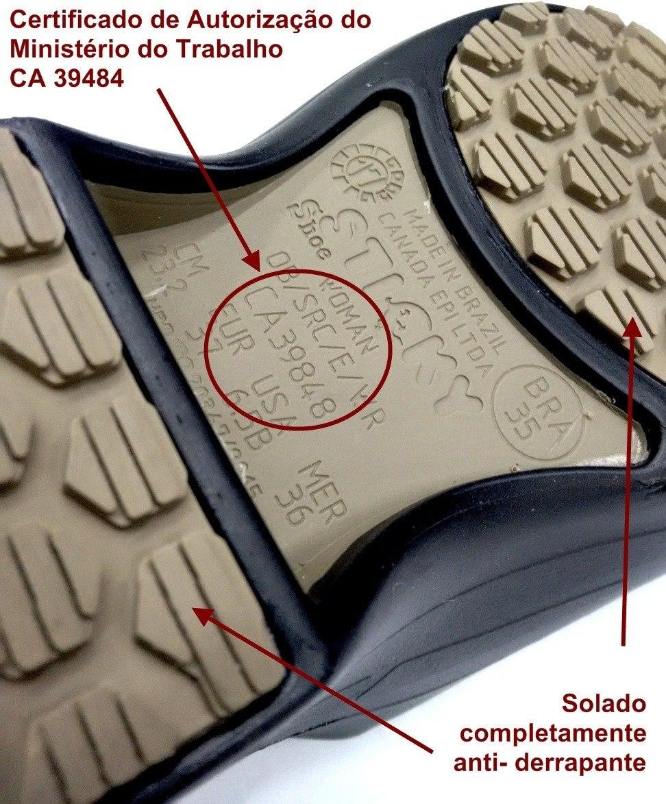 56c9173d5d06c Calçado Epi Ocupacional Profissional Sticky Shoe Ca 39848 Pr - R  91 ...