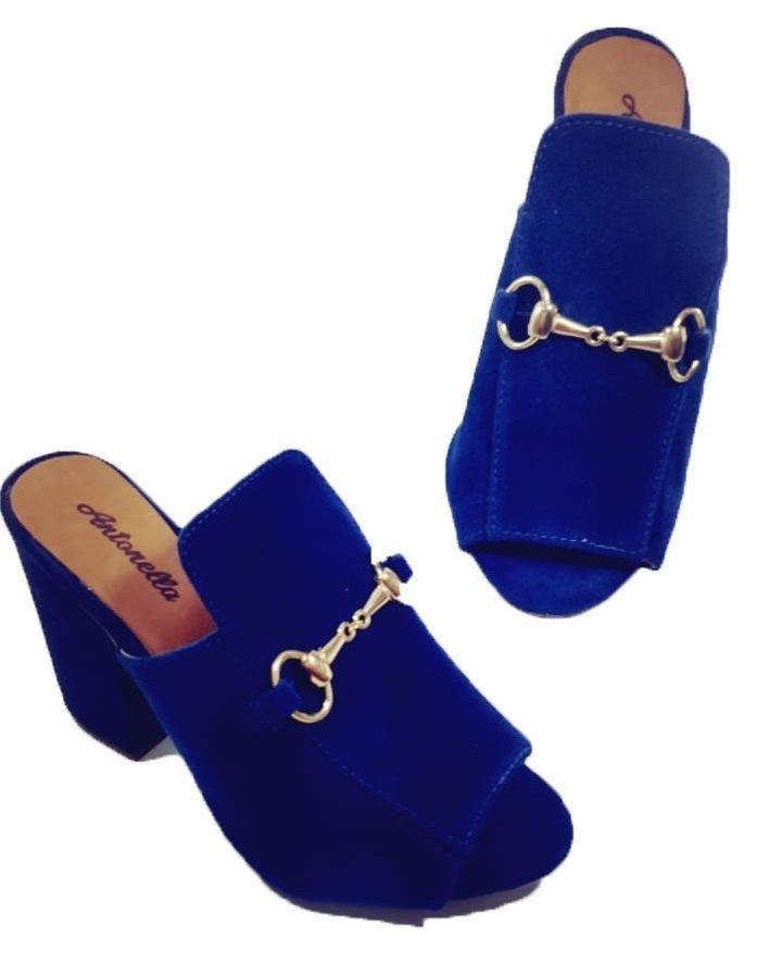 a7678a8b13 calçado feminino tamanco camurça azul marinho. Carregando zoom.