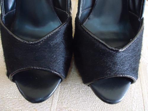 calçado feminino tipo meia pata em couro tam. 38 maravilhoso
