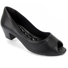 61fa6db1e Sapatilha Preta Da Zutti Feminino Peep Toe Comfortflex no Mercado Livre  Brasil