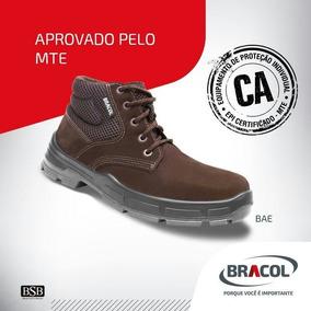 ec61a057544a3 Bota De Segurança Marrom Bracol no Mercado Livre Brasil