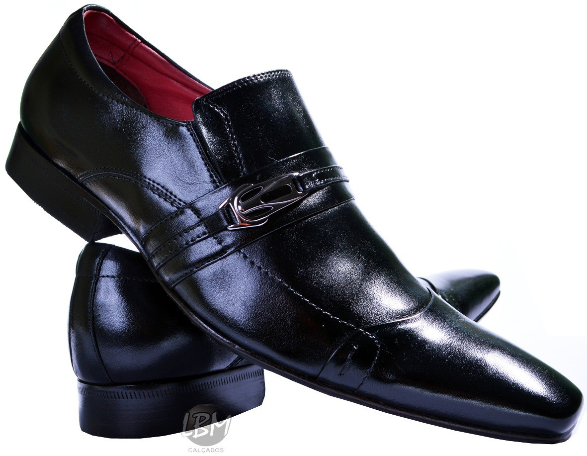 3812c4f9d8 calçado social italiano solado de couro bico fino promoção. Carregando zoom.