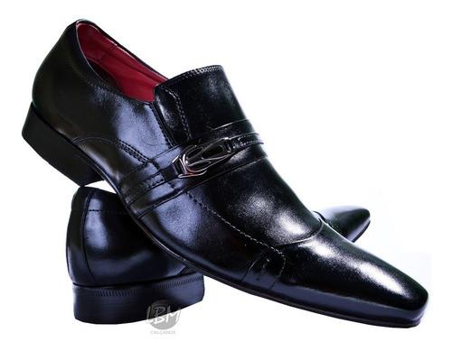 calçado social masculino italiano bico fino solado 100%couro