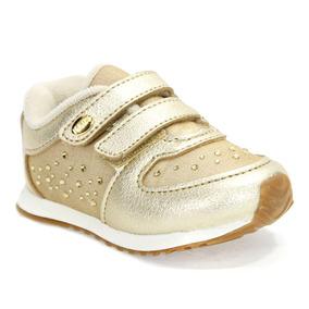 cd5dcf25f Tenis Dourado De Bebe Menina Klin - Calçados
