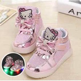a2cf585282e Pronta Entrega Tênis Infantil Led Hello Kitty Menina + Brind ...