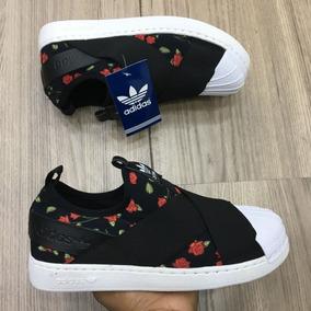 21e89d03053 Tênis adidas Slip On Preto Floral Aproveite Envio 24 Horas!