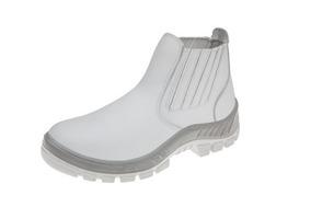 d3c2f12fd8 Botina Branca Para Açougueiro Padeiro Qualidade Marluvas New