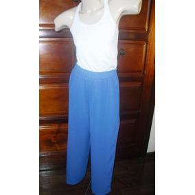 30cb665d8 Calça Pantalona Crepe De Seda Tamanho G