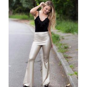 0b3a6173d0 Calca Metalizada Dourada Da Zara Calcas - Calças Feminino no Mercado ...