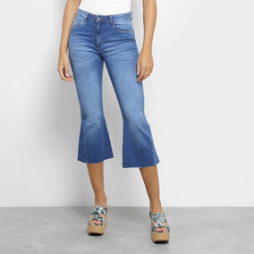 161bfc005 Calça Jeans Handbook Thaynara Cintura Alta Cropped Feminina