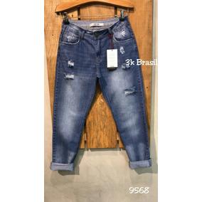 ede664b2af Calca Mom Jeans Lavagem Clara - Calças Jeans Feminino no Mercado ...