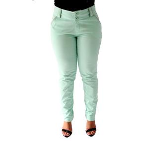 5d58fe2d5 Sarja Com Elastano Tecido Calcas - Calças Feminino no Mercado Livre ...