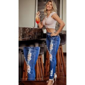 7ad47d112 Calça Rasura Cod.8430 Feminino - Calças Jeans Azul no Mercado Livre ...
