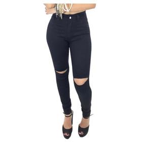 43b25f83e Calça Jeans Cintura Alta Com Lycra Rasgada - Calçados, Roupas e ...