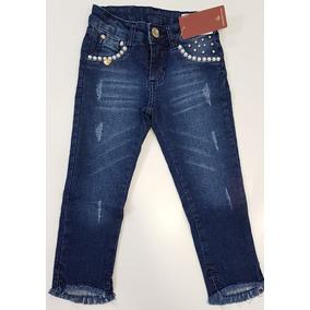3bd81f36f Calca Jeans Feminina 14 E 15 Anos - Calças Jeans Azul escuro no ...