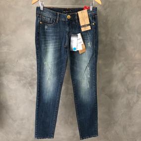 e96ed2c251 Equus Calça Jeans feminina sem Strech cintura Média  - Calças ...