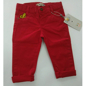 4ea35e7e30 Calça Bebê Menino Infantil Criança Sarja Strech Vermelha