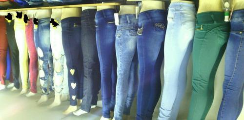calças coloridas e jeans feminina do tamanho 38 ao 46