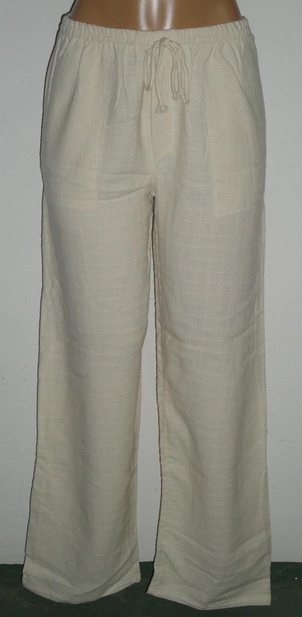 95e4d2c044995a Calças De Algodão Branca / Cru Reveillon - Tenda Roots