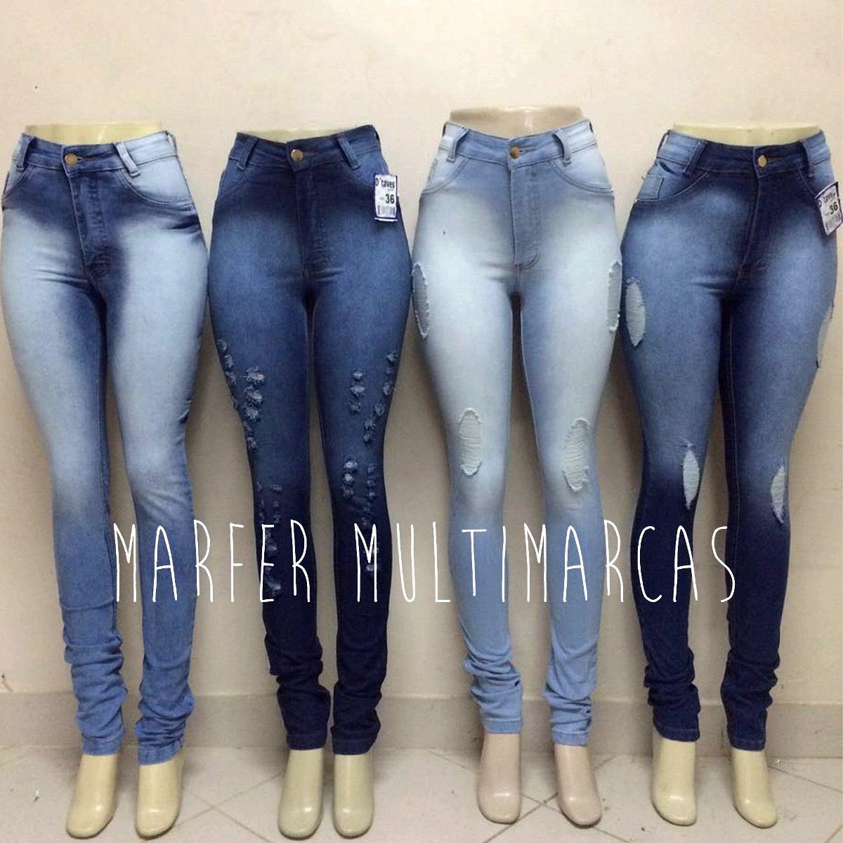 7019a1a4e Promoção! Calças Jeans Fem Hot Pants Cintura Alta Com Lycra - R  120 ...
