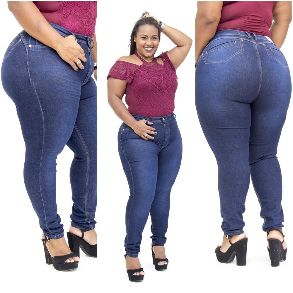358ccb1bb Calças Jeans Feminina Plus Size Vários Modelos Do 44 Ao 54 - R$ 88 ...