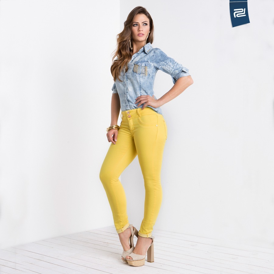 930f1da49 calças jeans feminina pó do pano. Carregando zoom.