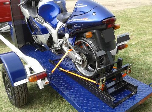 calce de rueda delantera y trasera para motos.