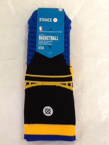 calceta basketball stance mediana crew maxima warrios negra