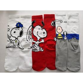 Calceta Larga Snoopy, Charlie Brown 3 Pares
