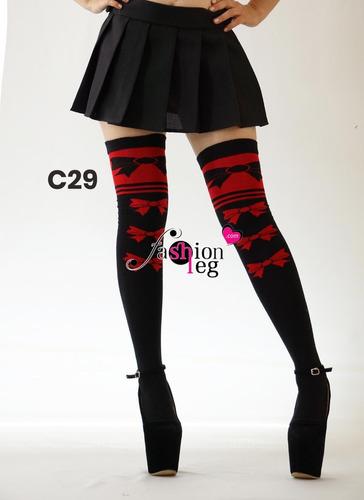 calceta media extra larga over knee lolita rayas japonesa li