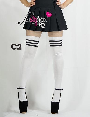 calceta media extra larga over knee lolita sexy japonesa