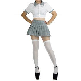 c9dcc6447adc2 Disfraz De Colegiala De Secundaria Medias Blusa Sexy Plus