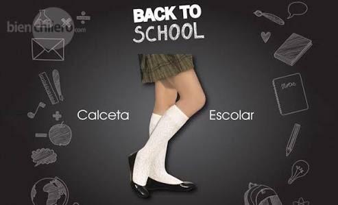 calcetas escolares