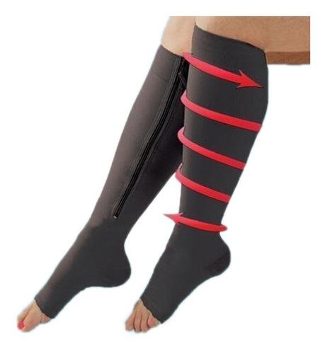 calcetas medias de compresion con cierre varices trombosis