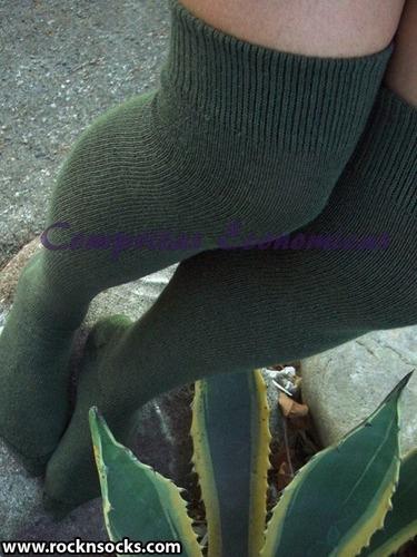calcetas medias over knee acrilan extra largas retro vintage