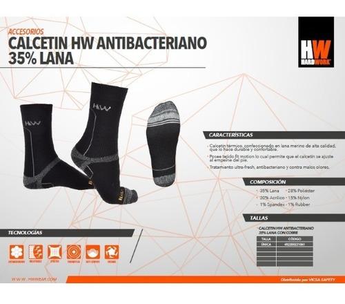 calcetín antibacteriano térmico 35% lana ultra fresh