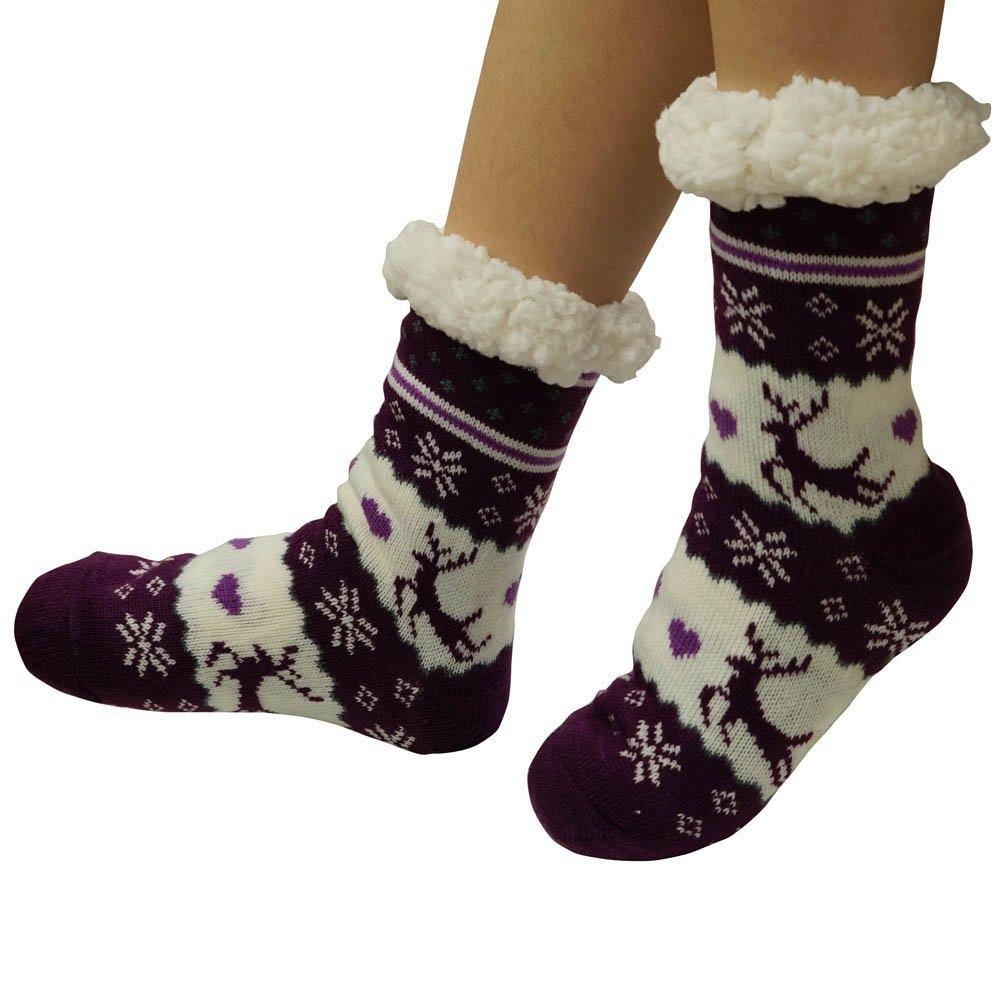 completamente elegante la venta de zapatos bueno Calcetines Antideslizantes De Invierno Para Mujer £ ¬super .