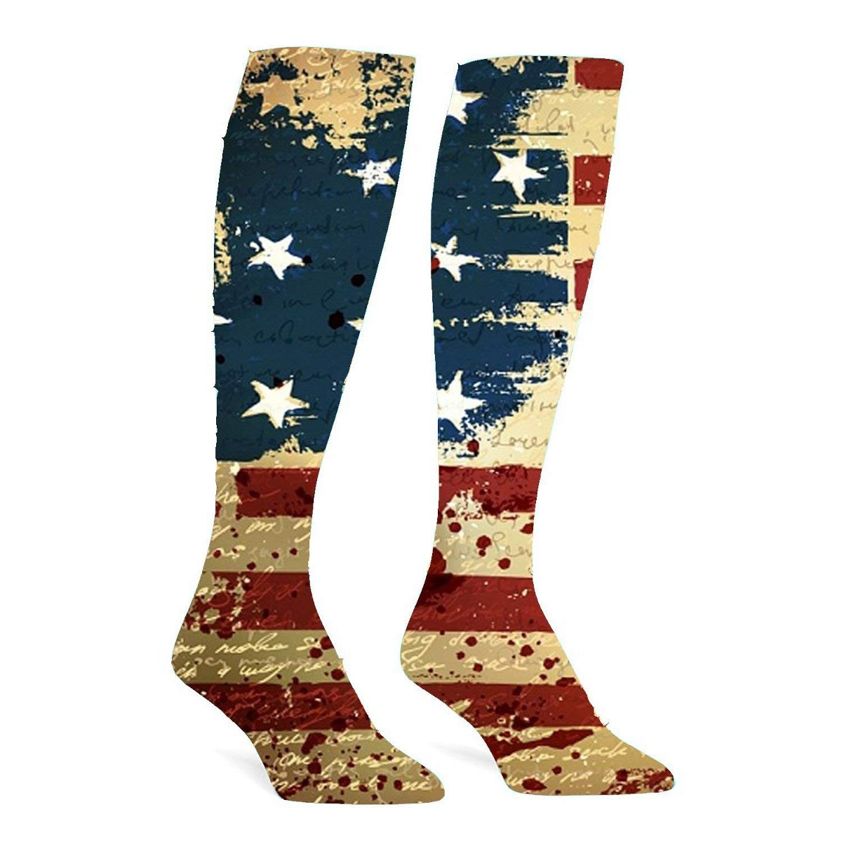 Calcetines Atléticos De La Bandera Americana Calcetines H ...