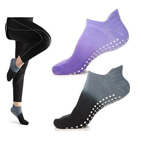 Calcetines De Agarre De Las Mujeres Para La Yoga Pilates Bar ...